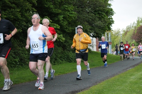 Brian Graham at 4km marker (photo by Steven Hill)