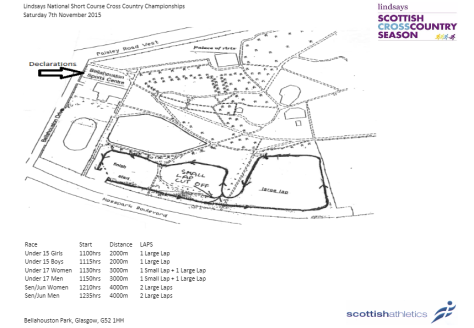shourt course map