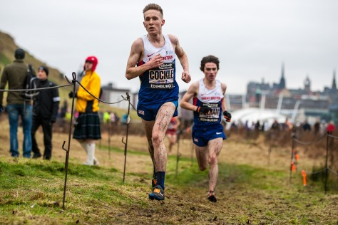 Euan Gillham chasing down GB team mate Gus Cockle (photo by Steve Adam)