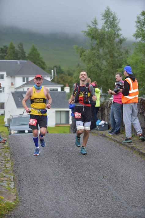 Robert arrives into Bridge of Orchy (photo by Monument Photos)