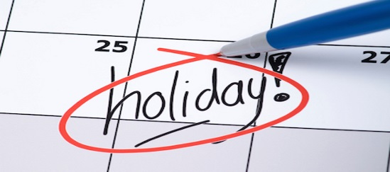 Important – Holiday Dates