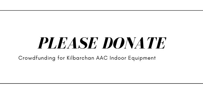 Please Donate - Crowdfunding for Kilbarchan AAC Indoor Equipment